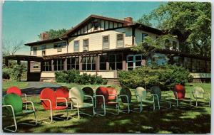 Oregon, Illinois Postcard MAXSON MANOR Restaurant / Lawn View / 1966 Cancel