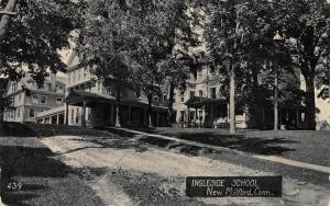 Ingleside School, New Milford, Connecticut, Early Postcard, Used in 1907