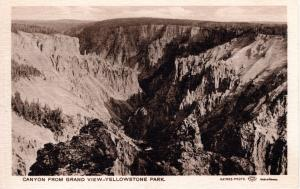 Canyon From Grand View, Yellowstone National Park, 1907