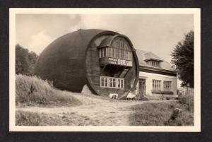 Czechoslovakie Obri Sud na Javorniku Barrell Czech Republic Postcard Real Photo