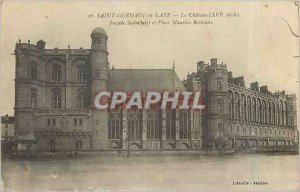 Old Postcard Saint Germain en Laye Le Chateau On West Facade and Place Mauric...