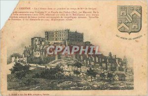Postcard Old Chateau Grignan in size to Madame de Sevigne Time