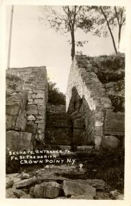 NY - Crown Point. Fort St Frederick, Secret Entrance to the Citadel.   *RPPC