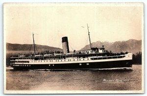 VTG RPPC Real Photo Postcard Princess Alice Passenger Steam Boat Canada CA A7