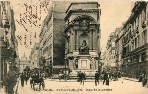 CPA PARIS (1e) Fontaine Moliere. Rue de Richelieu. (562538)