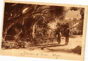 CPA AK Algérie-Alger-Jardin d'Essai-Sous les Draeoenas (237041)