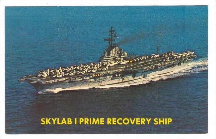 Skylab I Prime Recovery Ship, U.S.S. Ticonderoga (CVS-14), Newport News, Virg...