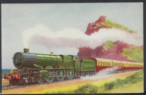 Railways Postcard - Vintage Trains - Great Western Railway Locomotive No 6000...