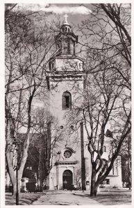 Maria Kyrka Stockholm Sweden Real Photo Old Postcard
