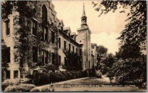 Joliet, Illinois Postcard ST. FRANCIS CONVENT Motherhouse & Novitiate c1940s