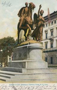 NEW YORK CITY, New York, PU-1906 ; Statue of Gen. Sherman, Central Park