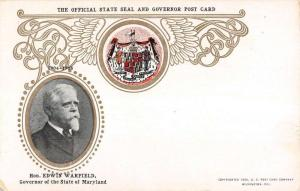 Governor State Of Maryland Seal Antique Postcard K7876324