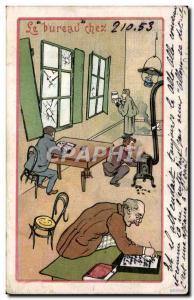 Old Postcard The Office Chez210 Illustrator 53