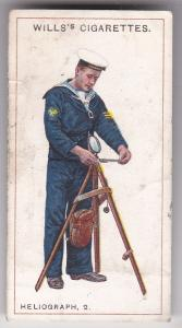 Cigarette Card  Wills Signalling Series No. 45 Heliograph 2