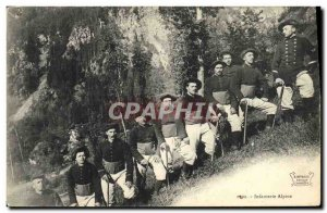 Old Postcard Militaria Alpine Hunters Alpine Infantry