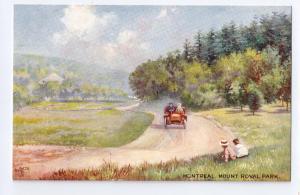 Tuck Oilette Montreal Quebec Canada Mt Royal Park Postcard