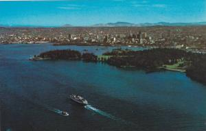 Aerial view of Harbour Park, Park & City, Vancouver,  B.C.,  Canada,  40-60s