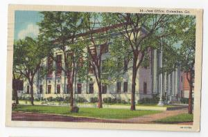 Columbus GA Post Office Curteich Linen Postcard
