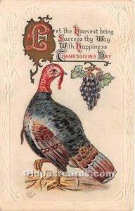 Thanksgiving Greetings Writing on back