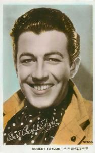 Robert Taylor American film and television actor postcard