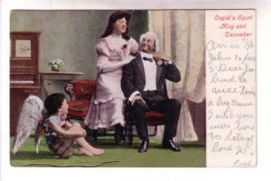 Winged Cupid, Cupid's Sport, May and December, Old Man, Young Woman