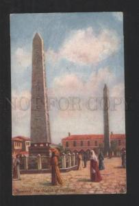 076821 CONSTANTINOPLE Obelisk of Theodosius Vintage TUCK PC