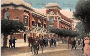 France Deauville Les Tribunes Courses promenade walk horse elegant men
