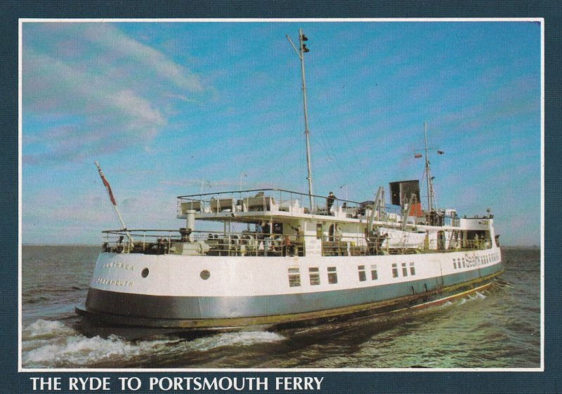 PORTSMOUTH, Hampshire, England, 1950-1970s; The Ryde To Portsmouth Ferry