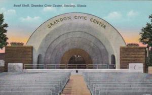 Illinois Sterling Grandon Civic Center Curteich