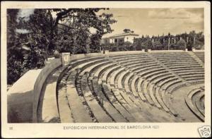 Exposition 1929 Spain Barcelona, Greek Theatre, RPPC