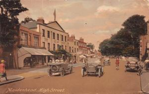 Maidenhead, High Street, England, Hand Colored Postcard, Used