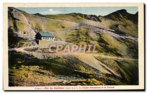 Old Postcard Col du Galibier Le Chalet Restaurant and Tunnel