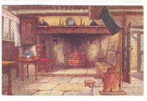 Chimney Corner, Anne Hathaway's Cottage, Stratford-On-Avon, England, UK, 1900...