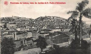 Portugal Panorama de Lisboa visto do Jardim de S. Pedro d'Alcantara Postcard