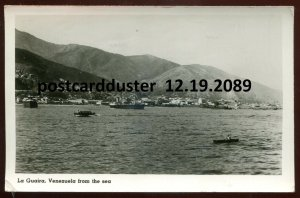 2089 - VENEZUELA La Guaira 1954 Harbor View. Cunard Line Real Photo Postcard