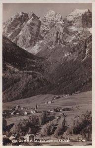 Blick Mieders Talfes Kaikkogel Austria Old Real Photo Postcard