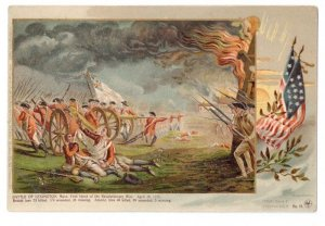 Patriotic Postcard Colonial Heroes #11 Lange Schwalbach Battle of Lexington PMC
