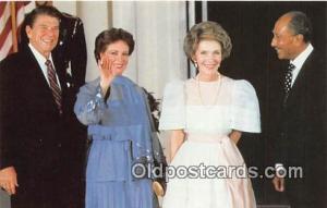 First Lady Jihan Sadat Postcard Egyptian President Anwar Sadat