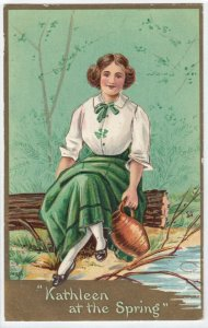 SAINT-PATRICK'S DAY ; Kathleen at the Spring ,1908