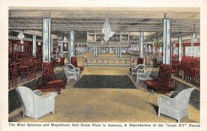 G63/ New York City Postcard c1920s Crystal Palace Lounge Interior 8