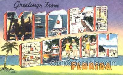 Miami, Florida USA  Large Letter Town Postcard Postcards  Miami, Florida USA