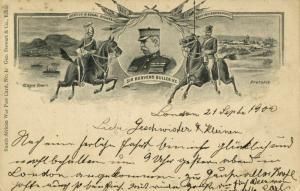 BOER WAR, General Sir Redvers Henry Buller, Cape Town, Pretoria (1900) Postcard