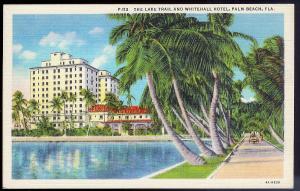 Whitehall Hotel Palm Beach FL unused c1934