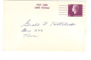 Postal Stationery Postcard Elizabeth II 3 Cent Precanceled, Used