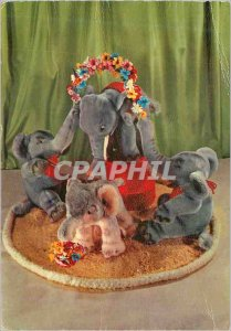 Modern Postcard Elephants stuffed