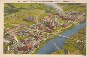Tennessee Kingport Airplane View Of Tennessee Eastman Company