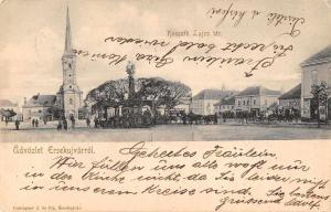 Ersekujvarrol Slovakia  Kossuth Lajos Square Vintage Postcard JE228539