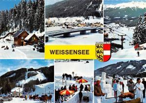 Weissensee Kaernten Bruecke Bridge Cable Car Terrace Auto Cars Horse Sledge