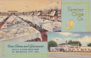 MICHIGAN CITY , Indiana , 30-40s; Vernier China Company, 2-views