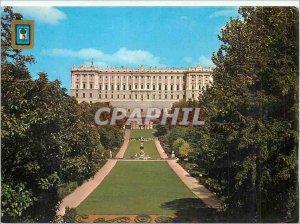 Postcard Modern Madrid Campo del Moro Royal Palace